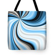 Creamy Blue Graphic Tote Bag