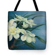 Creamy Plumeria Tote Bag