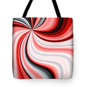 Creamy Red Graphic Tote Bag