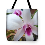 Creamy White And Hot Pink Orchid Tote Bag