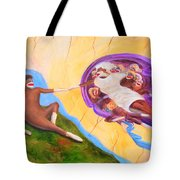 Creation Of A Sock Monkey Tote Bag