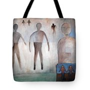 Creation Of Man And Woman Tote Bag