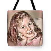 Creative Portrait Sample In Hdr Tote Bag