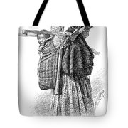 Cree Indian Squaw And Papoose Tote Bag
