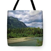 Creek Along Mountains, Mcdonald Creek Tote Bag