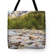 Creek And Castle Crags Tote Bag