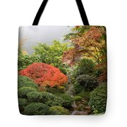 Creek At Japanese Garden In The Fall Tote Bag