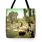 Creek At Jackalope Ranch Palm Springs Tote Bag