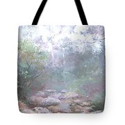 Creek In The Forest Tote Bag