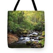 Creek In The Woods Tote Bag