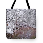 Creekside In The Snow 2 Tote Bag