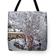 Creekside In The Snow Tote Bag