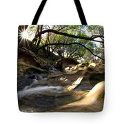 Creekside Sunrise Tote Bag