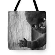 Creepy Baby Bw Tote Bag