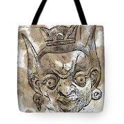 Creepy Mask Tote Bag