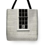 Creepy Victorian Girl Looking Out Window Tote Bag