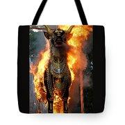 Balinese Burning Bull  Tote Bag