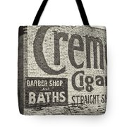 Cremo Cigar In Black And White Tote Bag