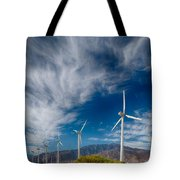 Creosote And Wind Turbines Tote Bag