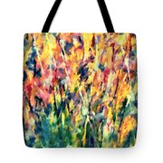 Crescendo Of Spring Abstract Tote Bag by Isabella Howard