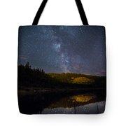 Crescent Lake Midnight Tote Bag
