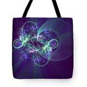 Crescent Moon And Fireworks Tote Bag