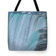 Crest Of Horseshoe Falls In Winter Tote Bag