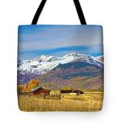 Crested Butte Autumn Landscape Panorama Tote Bag
