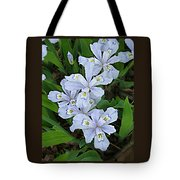 Wild Blue Crested Iris Tote Bag