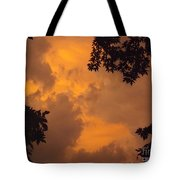 Cresting The Storm Clouds Tote Bag