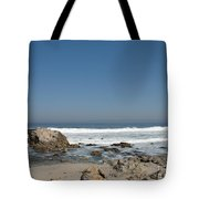 Crestwaves On A California Beach Tote Bag