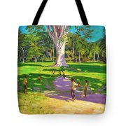 Cricket Match St George Granada Tote Bag by Andrew Macara