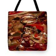 Crimson And Gray Glass Macro Ws2 Tote Bag