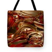Crimson And Gray Glass Macro Ws4 Tote Bag