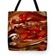 Crimson And Gray Glass Macro Ws6 Tote Bag