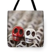 Crimson And White Tote Bag
