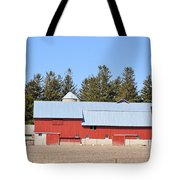 Crimson Barn Tote Bag