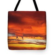 Crimson Fever Tote Bag