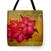 Crimson Floral Textured Tote Bag