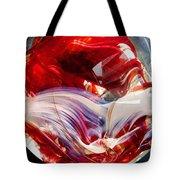 Crimson Orb Tote Bag