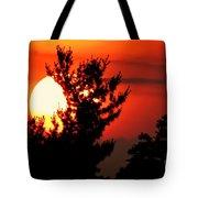 Crimson Sunset Tote Bag