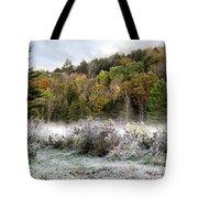Crisp Morning Frost Hillside Landscape Tote Bag