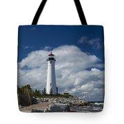 Crisp Point Lighthouse 15 Tote Bag