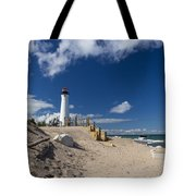 Crisp Point Lighthouse 18 Tote Bag