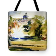 Crisp Water Fountain At The Baptist Home II Tote Bag