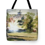 Crisp Water Fountain At The Baptist Home IIi Tote Bag