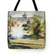 Crisp Water Fountain At The Baptist Home  Tote Bag by Kip DeVore