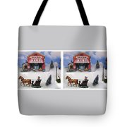 Christmas Decoration - Gently Cross Your Eyes And Focus On The Middle Image Tote Bag