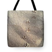 Critter Tracks In The Sand Tote Bag