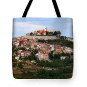 Croatian City Motovun  Tote Bag